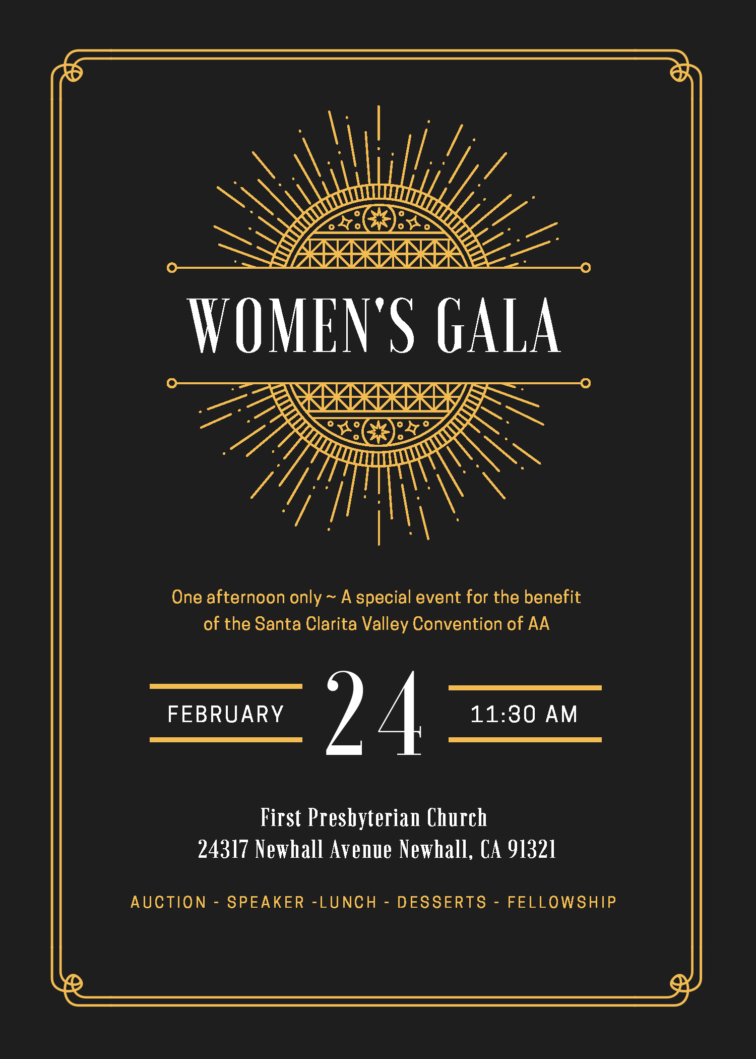 Womens Gala Invitation